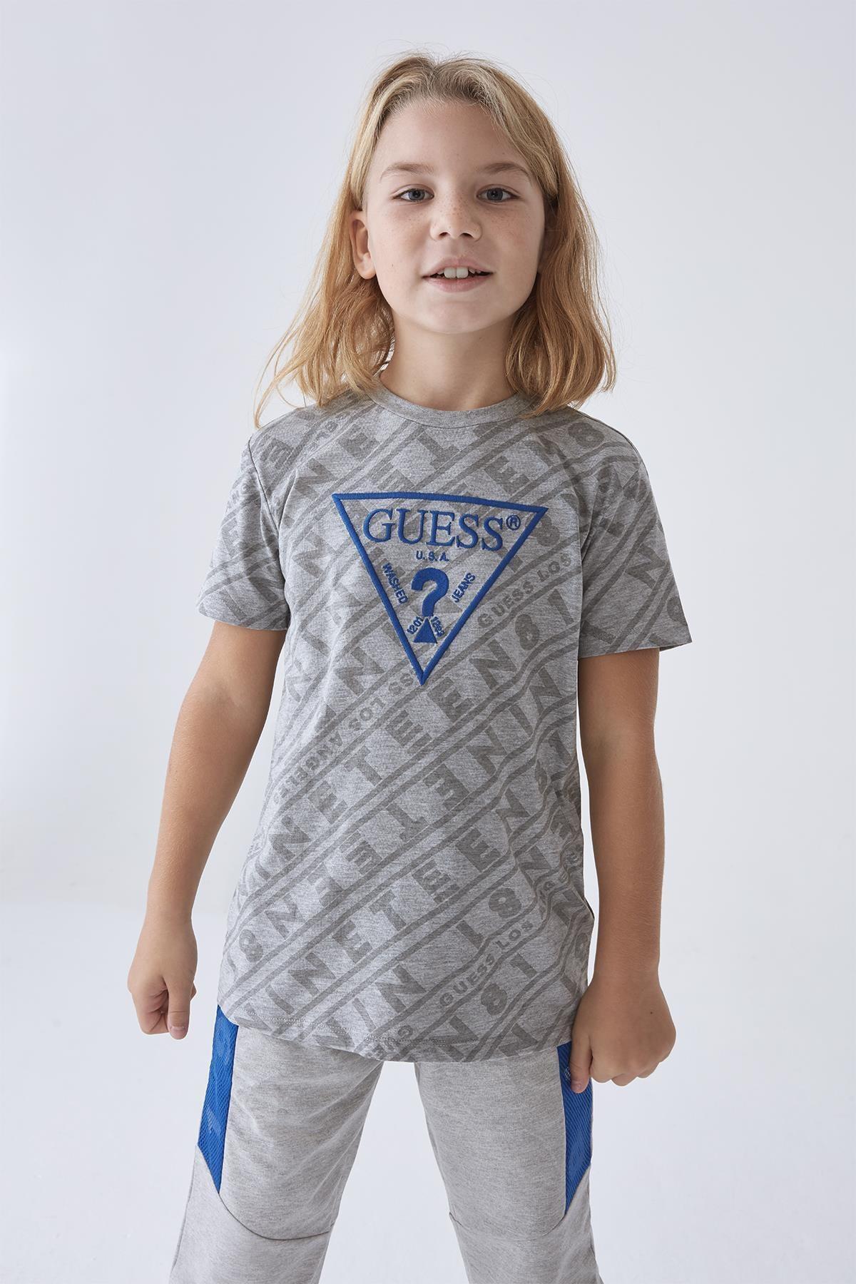 Guess Erkek Çocuk Gri T-shirt 20fwgl0yı03 1
