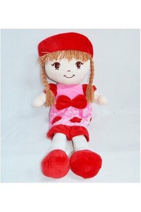 HALLEY Oyuncak Bez Bebek Dantel Elbiseli Kırmızı 70 Cm Büyük Boy