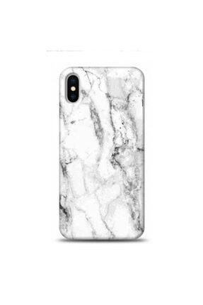EXCLUSIVE Apple Iphone Xs Max Beyaz Mermer Desenli Telefon Kılıfı