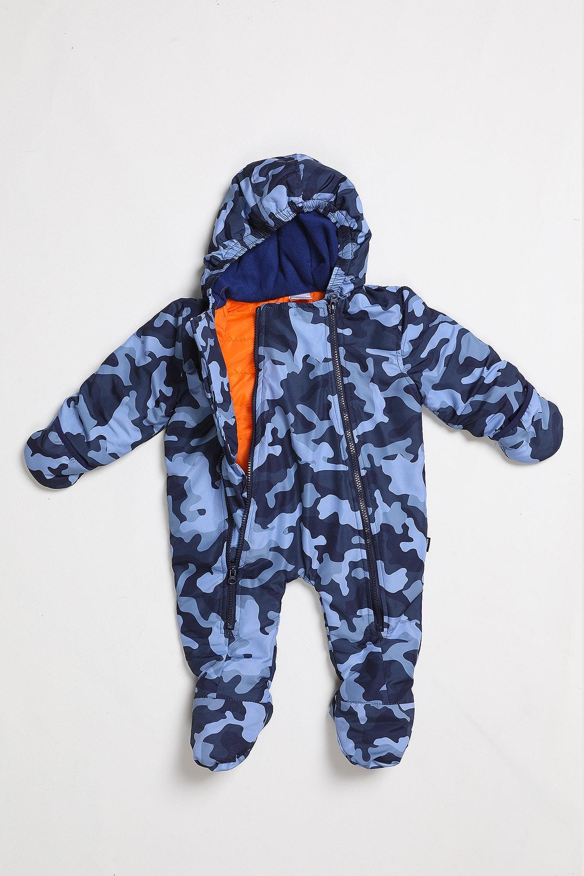 Wonder Kıds Erkek Bebek Mavi Astronot Tulum 1