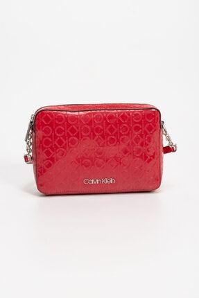 Calvin Klein Kadın Kırmızı Crossbody Omuz Çanta