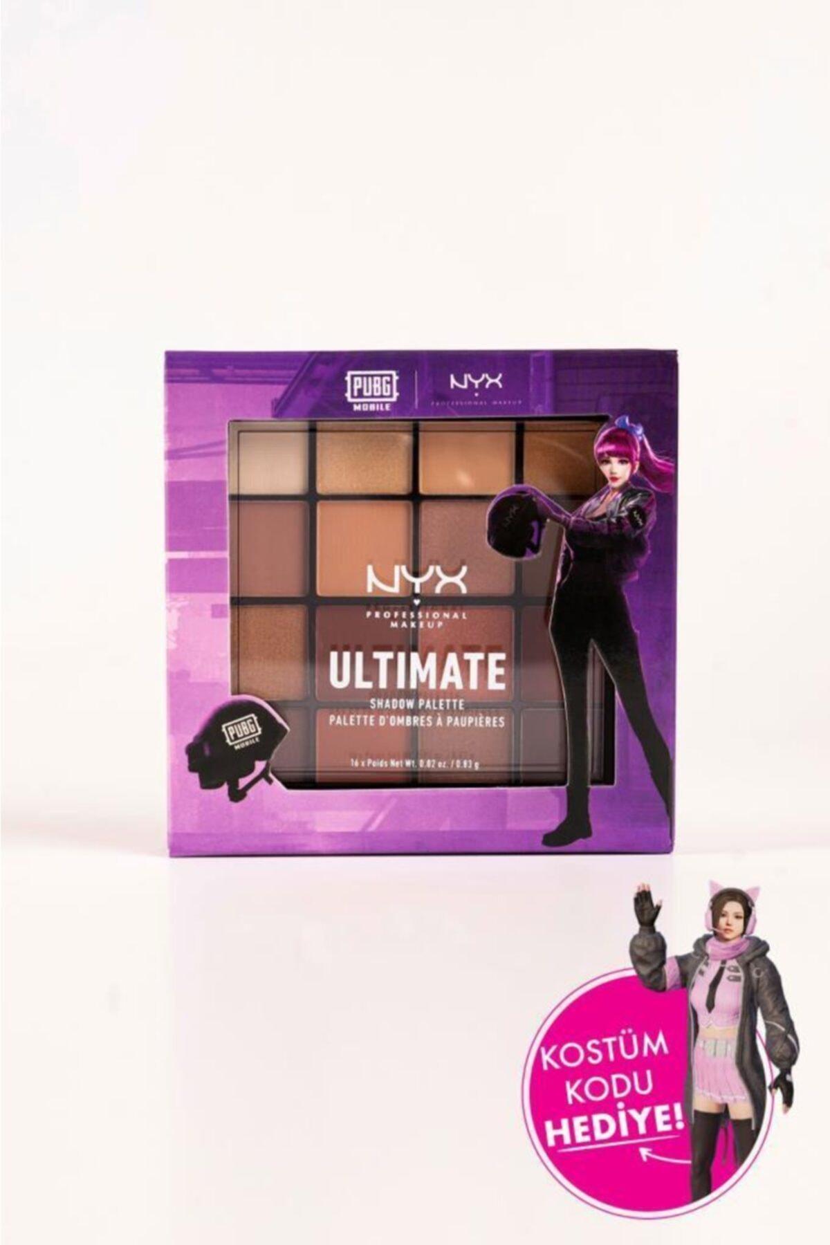 NYX Professional Makeup Pubgm Ultimate Shadow Palette Warm Neutrals - Far Paleti 1
