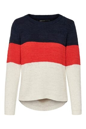 Only Onlgeena L/s Block Pullover Knt Noos
