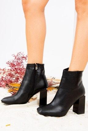 Fox Shoes Siyah Suni Deri Kadın Bot J820006209