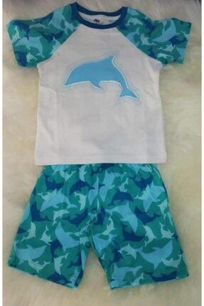 Wonder Kıds Wonderkids 130658 Erkek Çocuk Şortlu Pijama Takımı