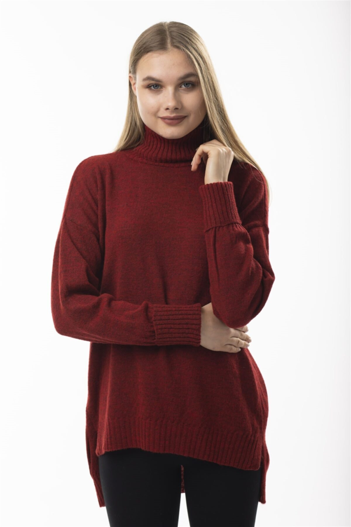 STAMINA 2f103 Triko Bluz-koyu Kırmızı 1