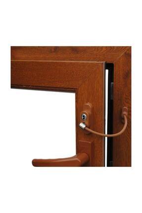 3M 9 Adet Çelik Halatlı Pvc Kapı Pencere Emniyet Kilidi - Kahverengi Kahvekilit