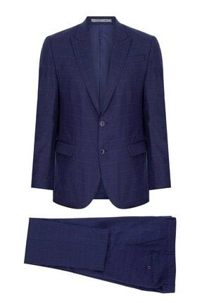 İgs Erkek Lacivert Slım Fıt / Dar Kalıp 9cm Kırlangıç Takım Elbise