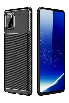 Hesaplı Dünya Samsung Galaxy Note 10 Lite Kılıf Esnek Koruyucu Silikon Siyah