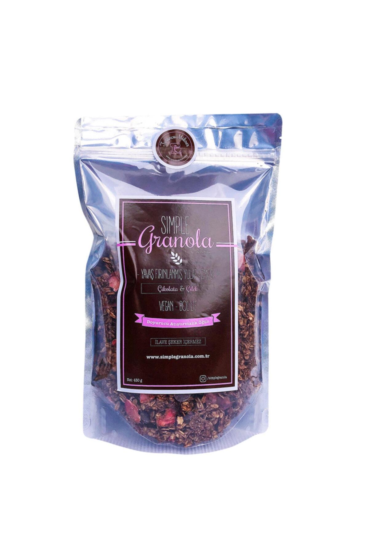Simple Granola Çikolata Ve Çilekli Granola 450 gram 1