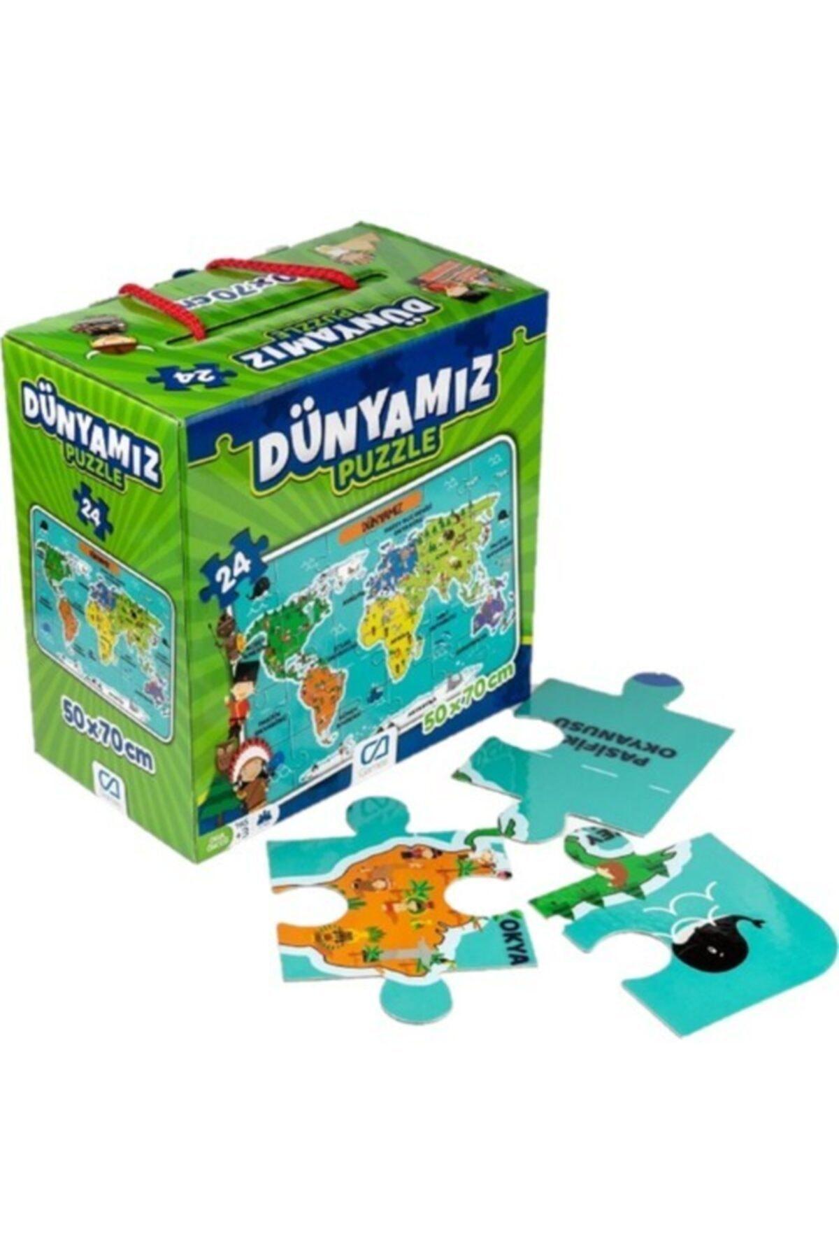 CA Games 4'lü Süper Yer Puzzle Seti(Türkiye-dünyamız-gezegenler-alfabe) 2