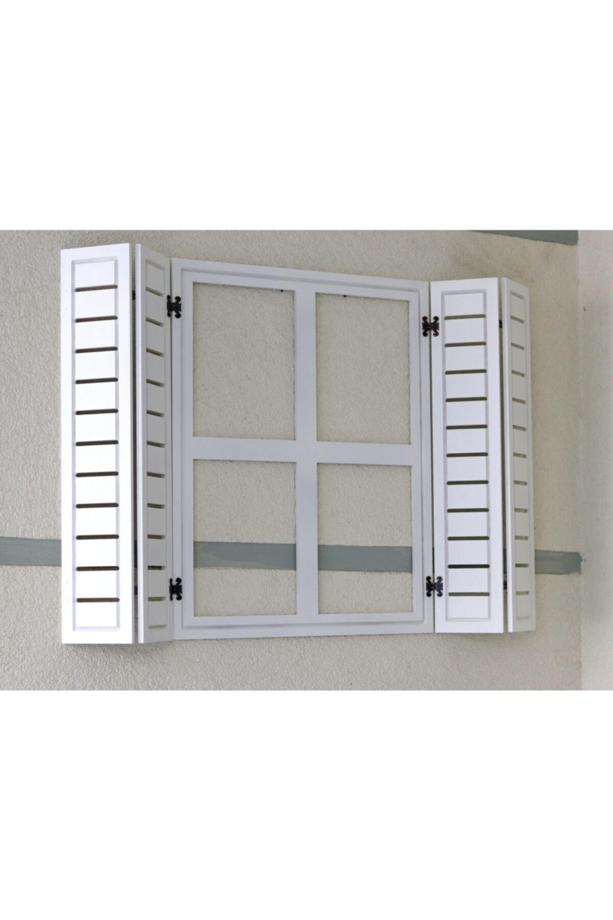 noylens Dekor Panjur Ahşap Pencere Model Aynalık Hediyelik Bahçe Oyuncak Duvar Süsü Çocuk Odası Dekor 1
