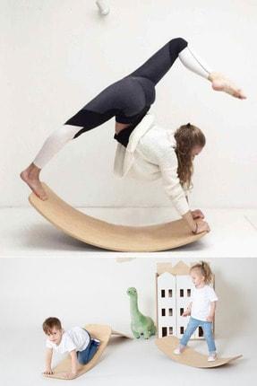 bybaby Doğal Ahşap Montessori Denge Tahtası Balance Board