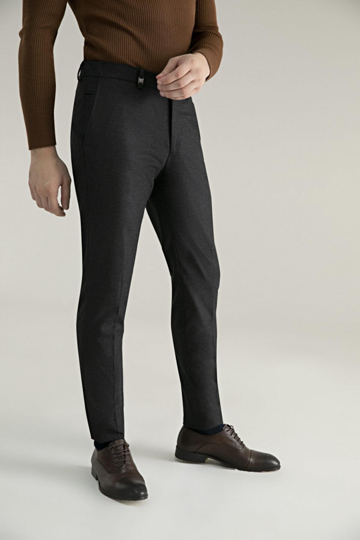 D'S Damat Tween Slim Fit Antrasit Kumaş Pantolon 2