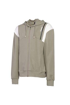 HUMMEL Erkek Bej Zip Hoodie Hmlace Sweatshirt