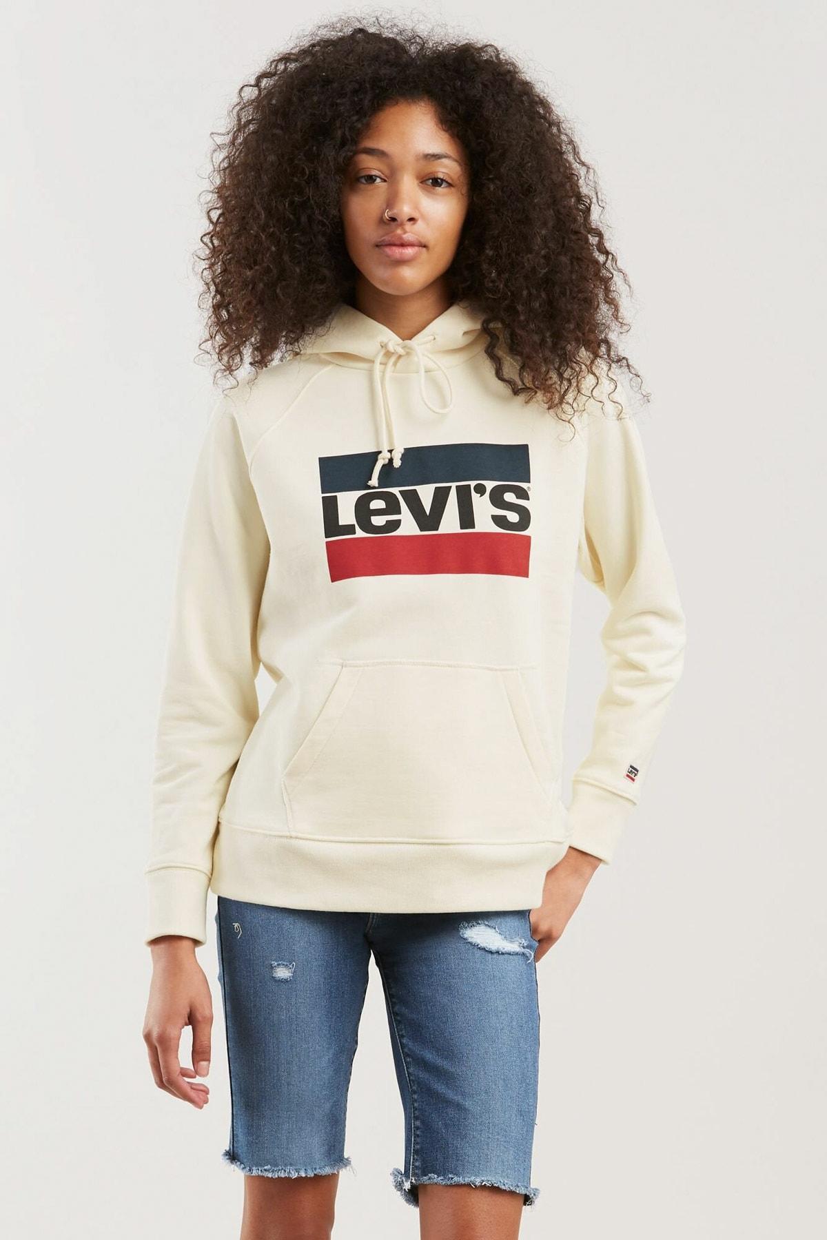 Levi's Kadın Beyaz Sweatshirt 35946-0001 1