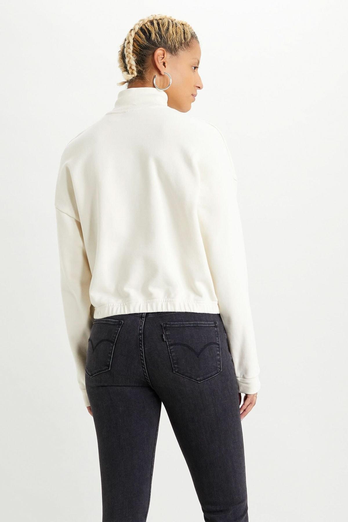 Levi's Kadın Quarter Zip Sweatshirt 21551-0001 2
