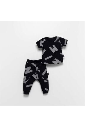 Moi Noi Moinoi Desenli Siyah Bebek Çocuk Takımı Miniropa