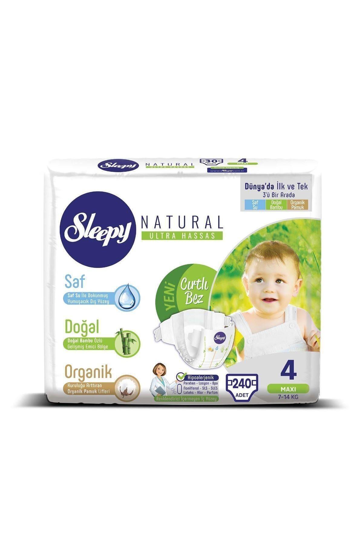 Sleepy Natural Bebek Bezi 4 Numara Maxi Ultra Fırsat Paketi 240 Adet 2