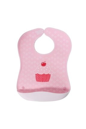 Sevi Bebe Plastik Cepli Önlük Art-72 Pembe