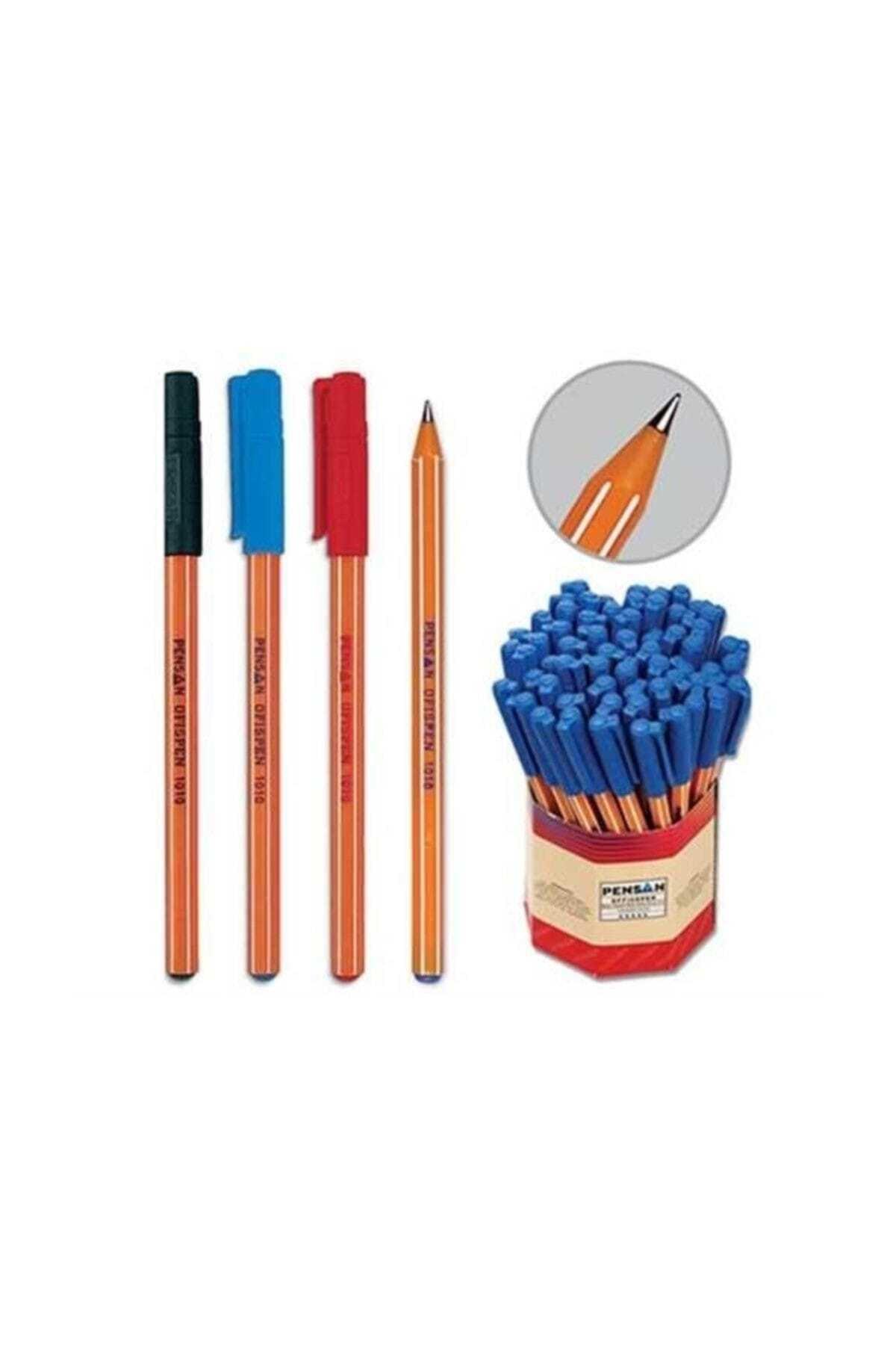 Pensan Tükenmez Kalem 60'lı Mavi Kırmızı 1010 1.0 1
