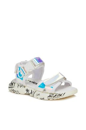 Vicco Tempo Metalik Kız Bebe Gümüş Sandalet