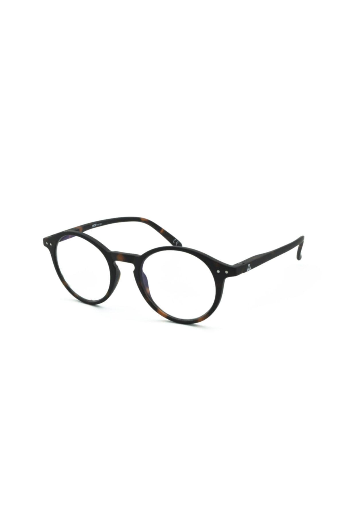 Mess Frames Orijinal Mavi Işık Filtreli Ekran Gözlüğü Unclebob-opt C3 50-21-140 ( Kırçıllı Kahve ) 1