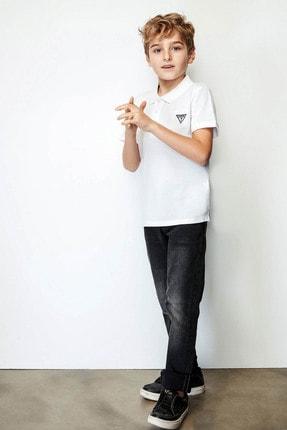 Guess Erkek Çocuk Beyaz Polo T-Shirt 19SSGL71P21