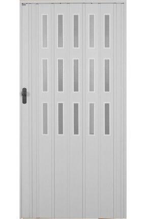 Penguen Akordiyon Katlanır Kapı 12 Mm Beyaz Camlı En 102 Cm * Boy 220 Cm' E Kadar