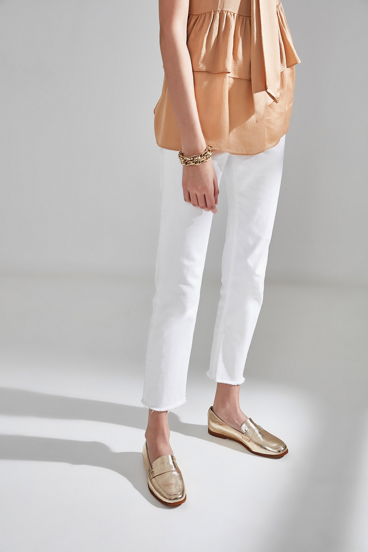 Hotiç Gold Kadın Loafer Ayakkabı 01AYH174500A540 1