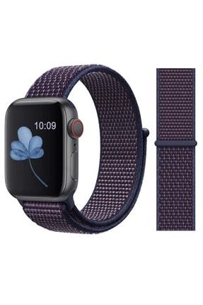 Elfia Apple Watch 5. Nesil 44mm Pastel Renkli Tarz Örgü Saat Kordonu