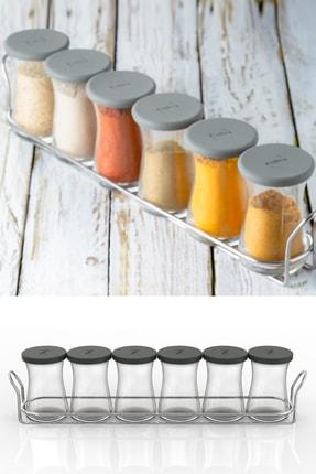 Paşabahçe Zest Glass 6'lı Baharatlık Seti Gri