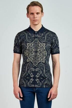 Giovane Gentile Erkek Lacivert T-Shirt LB0651201934