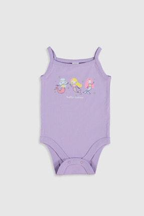 LC Waikiki Kız Bebek Lila Pgg Bebek Body & Zıbın