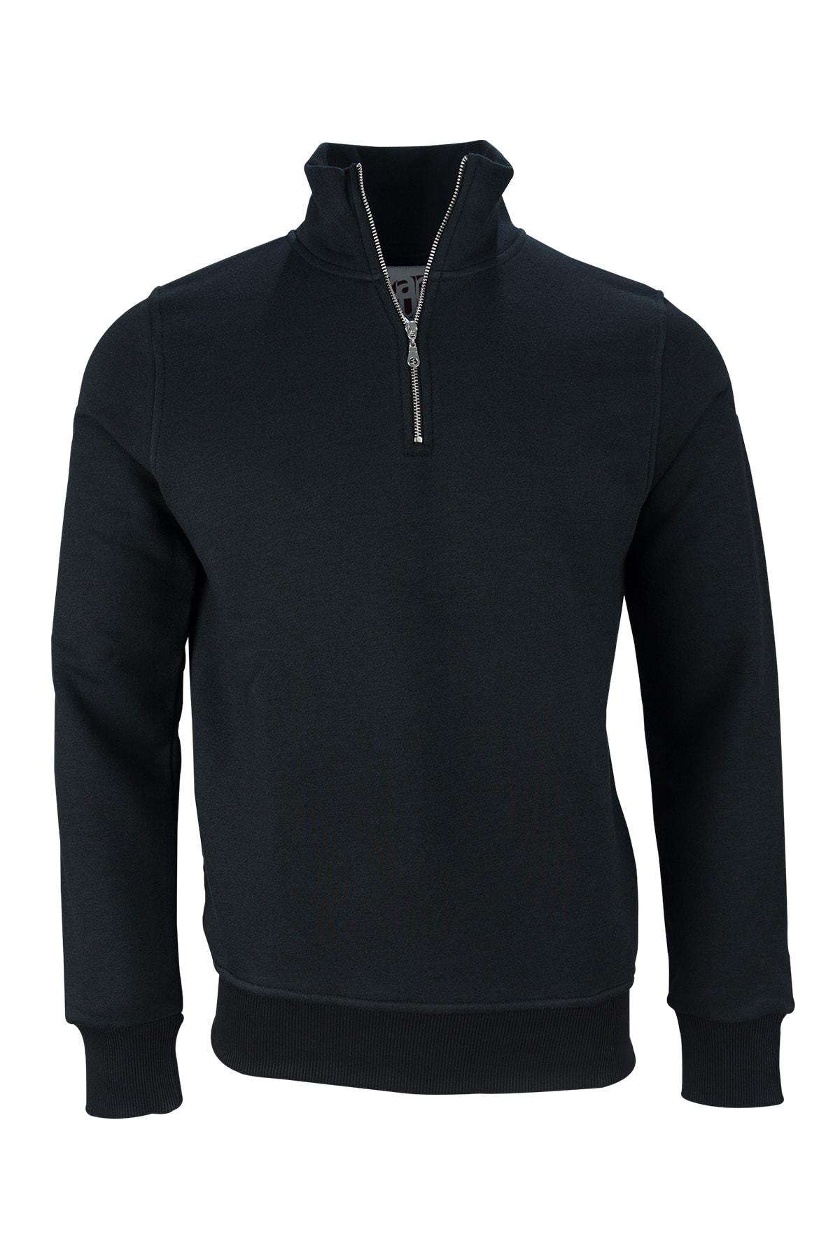 Fimerang Diagonal Yarım Fermuarlı Sweatshirt 2