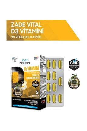 Zade Vital D3 Vitamini 30 Yumuşak Kapsül - Blister