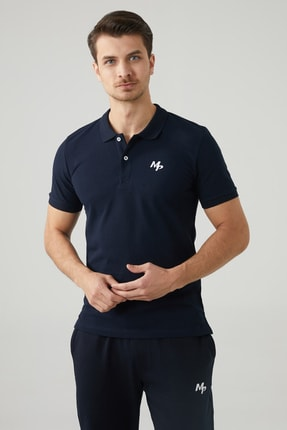 MP Erkek Polo Yaka Lacivert T-shirt