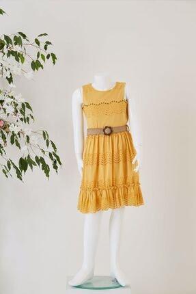 Pafim Kız Çocuk Kolsuz Dantel Elbise