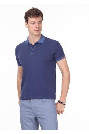 Ramsey Erkek İndigo Düz Örme T - Shirt RP10120144
