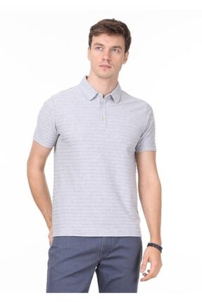 Ramsey Erkek Açık Gri Jakarlı Örme T - Shirt RP10119771