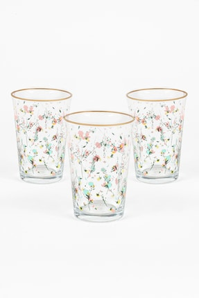 Rakle Flora 3'lü Su Bardağı Seti