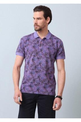 Ramsey Erkek Mor Baskılı Örme T - Shirt RP10120143