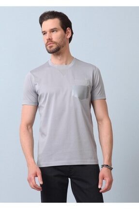 Ramsey Erkek Gri Baskılı Örme T - Shirt RP10119906