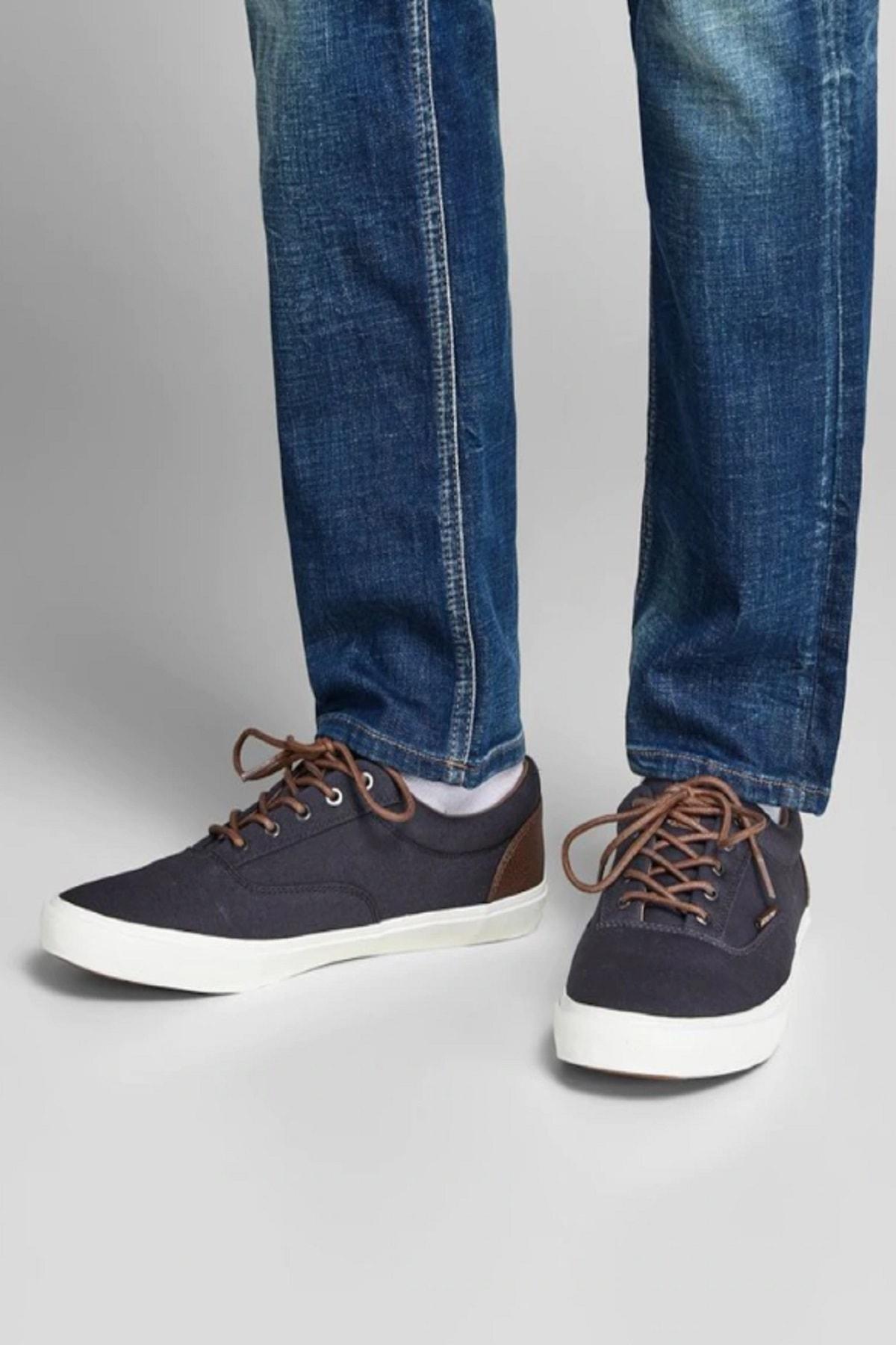 Jack & Jones Erkek Lacivert  Kanvas Günlük Ayakkabı 12150498 1