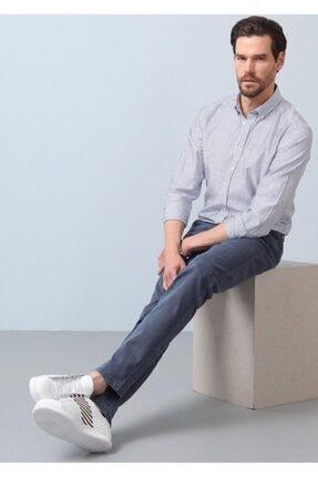 Ramsey Erkek Gri Düz Dokuma Pantolon RP10119790