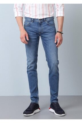 Ramsey Erkek Lacivert Düz Denim Pantolon RP10119934