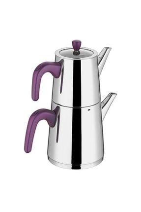Aryıldız Viole Purple Büyük Çaydanlık Takım
