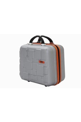 MY SARACİYE My Luggage 50136 Gri Bakalit Seyahat Makyaj Çantası