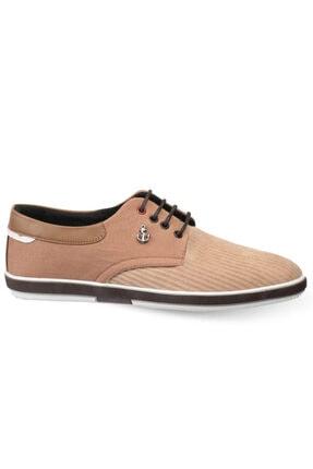 Atlanta Erkek Hardal Bağcıklı Kadife Ayakkabı
