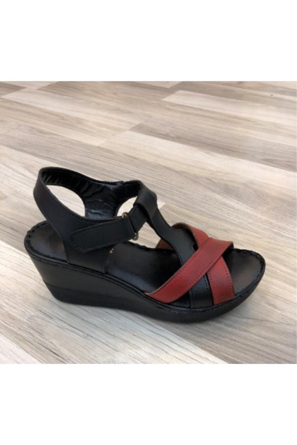 PUNTO 390101 Kadın Dolgu Topuk Sandalet 1